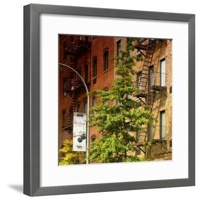 Buildings - Stairs - Emergency - New York City - United States-Philippe Hugonnard-Framed Photographic Print
