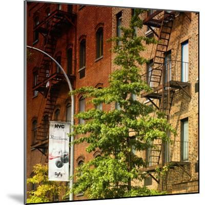 Buildings - Stairs - Emergency - New York City - United States-Philippe Hugonnard-Mounted Photographic Print