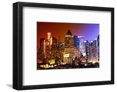 Buildings and Structures - Landscapes - Times Square - Manhattan - New York City - United States-Philippe Hugonnard-Framed Photographic Print