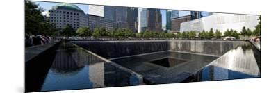 Panoramic Landscapes - Memorial - World Trade Center - New York - United States-Philippe Hugonnard-Mounted Photographic Print