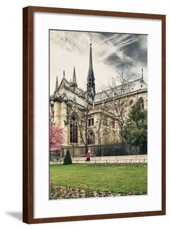 A nun - Notre Dame Cathedral - Paris - France-Philippe Hugonnard-Framed Photographic Print
