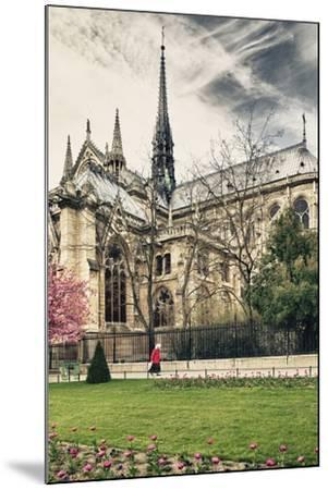 A nun - Notre Dame Cathedral - Paris - France-Philippe Hugonnard-Mounted Photographic Print