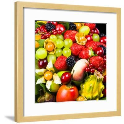 Close up of Fresh Fruits - Fruit assortments - Fruits and Vegetables-Philippe Hugonnard-Framed Photographic Print
