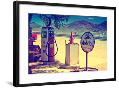 Route 66 - Gas Station - Arizona - United States-Philippe Hugonnard-Framed Photographic Print