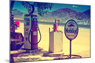 Route 66 - Gas Station - Arizona - United States-Philippe Hugonnard-Mounted Photographic Print