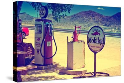 Route 66 - Gas Station - Arizona - United States-Philippe Hugonnard-Stretched Canvas Print