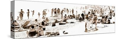 Panoramic Landscape - French beach - France-Philippe Hugonnard-Stretched Canvas Print