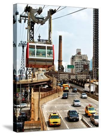 Roosevelt Island Tram and Ed Koch Queensboro Bridge (Queensbridge) Entry View, Manhattan, New York-Philippe Hugonnard-Stretched Canvas Print