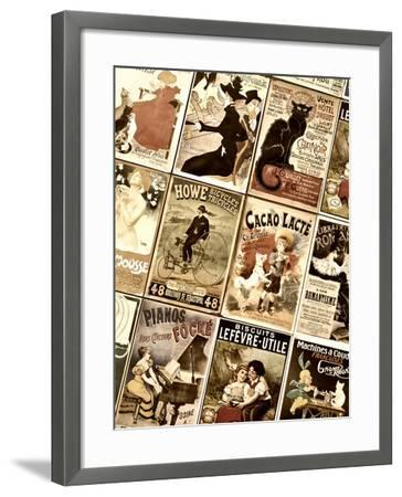 Old French Postcards - Gallery - Montmartre - Paris - France-Philippe Hugonnard-Framed Photographic Print