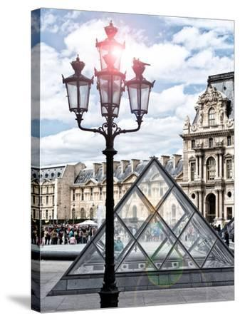 View of the Pyramid and the Louvre Museum Building, Paris, France, Europe-Philippe Hugonnard-Stretched Canvas Print