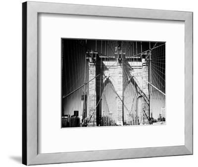 Brooklyn Bridge, Manhattan, New York, White Frame, Full Size Photography-Philippe Hugonnard-Framed Photographic Print