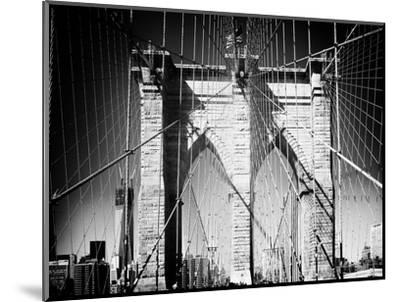 Brooklyn Bridge, Manhattan, New York, White Frame, Full Size Photography-Philippe Hugonnard-Mounted Photographic Print