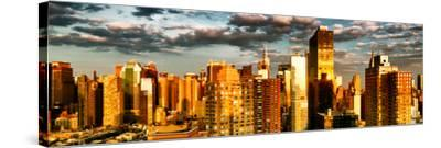 Architecture and Buildings, Sunset, Midtown of Manhattan, Times Square and 42 Street, New York-Philippe Hugonnard-Stretched Canvas Print