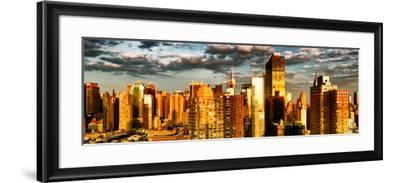 Architecture and Buildings, Sunset, Midtown of Manhattan, Times Square and 42 Street, New York-Philippe Hugonnard-Framed Photographic Print