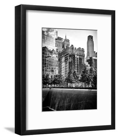 Architecture and Buildings, 9/11 Memorial, 1Wtc, Manhattan, NYC, USA, Black and White Photography-Philippe Hugonnard-Framed Photographic Print