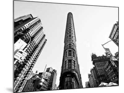 Flatiron Building, 5th Ave, Manhattan, New York, United States, Black and White Photography-Philippe Hugonnard-Mounted Photographic Print