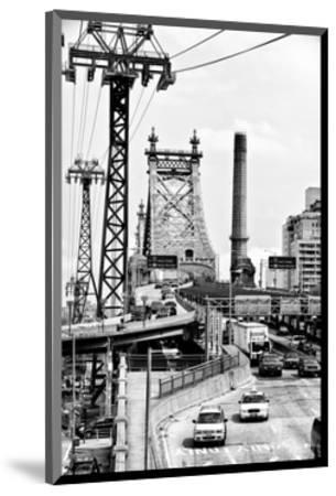 "Road Traffic on ""59th Street Bridge"" (Queensboro Bridge), Manhattan Downtown, NYC, White Frame-Philippe Hugonnard-Mounted Photographic Print"