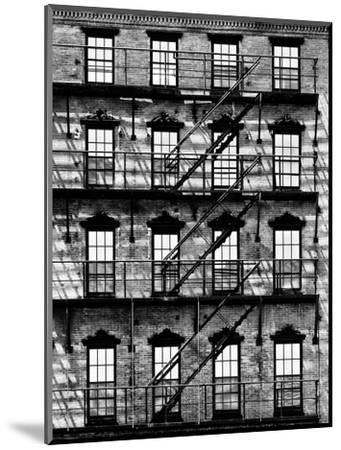 Building Facade in Red Brick, Stairway on Philadelphia Building, Pennsylvania, US-Philippe Hugonnard-Mounted Photographic Print