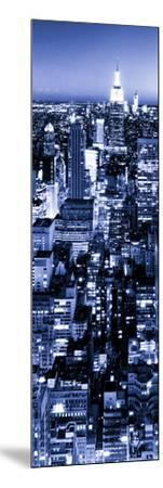 View of City, Vertical Panoramic Landscape View by Night, Midtown Manhattan, Manhattan, NYC-Philippe Hugonnard-Mounted Photographic Print