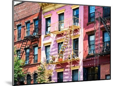 Colorful Buildings with Fire Escape, Williamsburg, Brooklyn, New York, United States-Philippe Hugonnard-Mounted Photographic Print