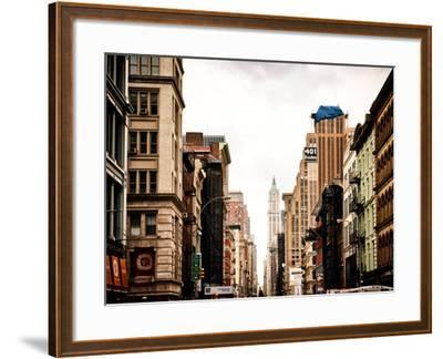 Architecture and Buildings, Urban Scene, 401 Broadway, Lower Manhattan, New York City, Vintage-Philippe Hugonnard-Framed Photographic Print