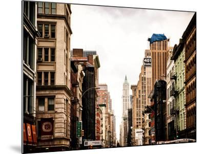 Architecture and Buildings, Urban Scene, 401 Broadway, Lower Manhattan, New York City, Vintage-Philippe Hugonnard-Mounted Photographic Print
