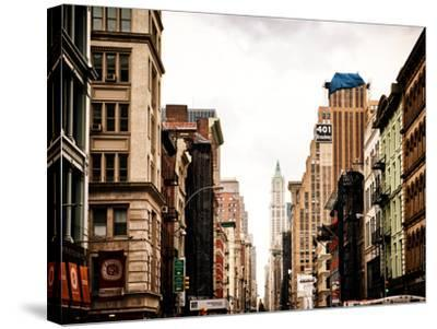 Architecture and Buildings, Urban Scene, 401 Broadway, Lower Manhattan, New York City, Vintage-Philippe Hugonnard-Stretched Canvas Print