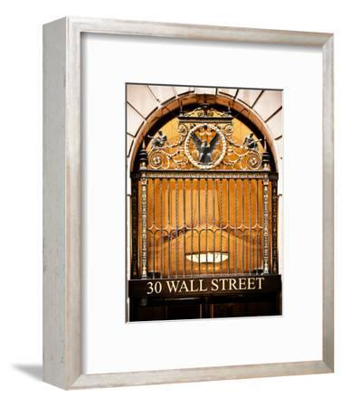 Nysc 30 Wall Street Building, Financial District, Manhattan, New York City, US, USA, Vintage Colors-Philippe Hugonnard-Framed Photographic Print