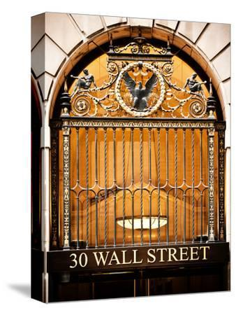Nysc 30 Wall Street Building, Financial District, Manhattan, New York City, US, USA, Vintage Colors-Philippe Hugonnard-Stretched Canvas Print