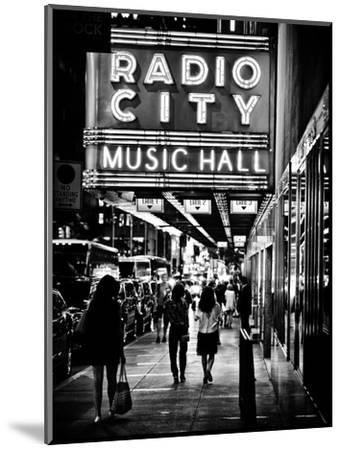 Urban Scene, Radio City Music Hall by Night, Manhattan, Times Square, New York, Classic-Philippe Hugonnard-Mounted Photographic Print