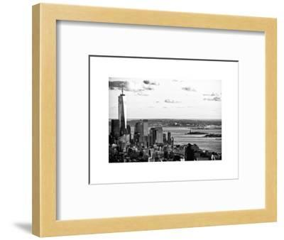 The One World Trade Center (1WTC), Hudson River and Statue of Liberty View, Manhattan, New York-Philippe Hugonnard-Framed Photographic Print