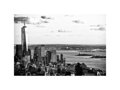 The One World Trade Center (1WTC), Hudson River and Statue of Liberty View, Manhattan, New York-Philippe Hugonnard-Stretched Canvas Print