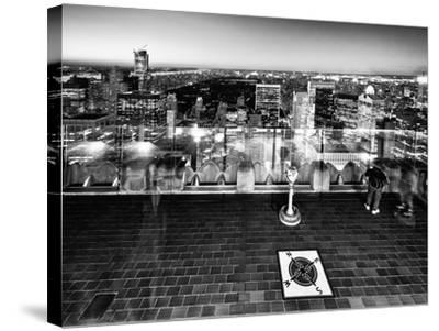 Downtown at Night, Top of the Rock Oberservation Deck, Rockefeller Center, New York City-Philippe Hugonnard-Stretched Canvas Print