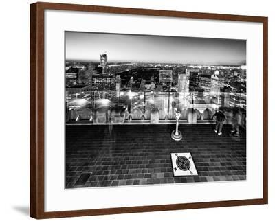 Downtown at Night, Top of the Rock Oberservation Deck, Rockefeller Center, New York City-Philippe Hugonnard-Framed Photographic Print
