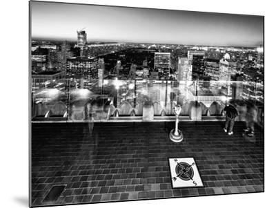 Downtown at Night, Top of the Rock Oberservation Deck, Rockefeller Center, New York City-Philippe Hugonnard-Mounted Photographic Print
