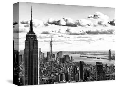 Skyline with the Empire State Building and the One World Trade Center, Manhattan, NYC-Philippe Hugonnard-Stretched Canvas Print
