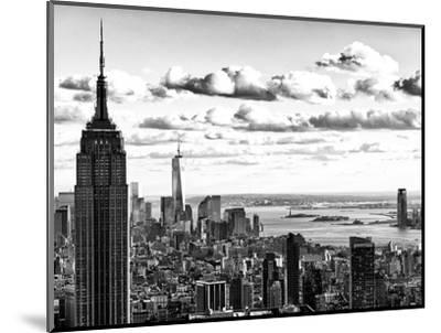 Skyline with the Empire State Building and the One World Trade Center, Manhattan, NYC-Philippe Hugonnard-Mounted Photographic Print