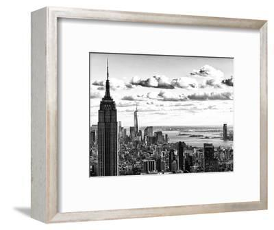 Skyline with the Empire State Building and the One World Trade Center, Manhattan, NYC-Philippe Hugonnard-Framed Photographic Print