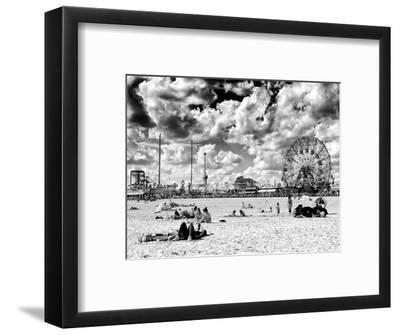 Vintage Beach, Wonder Wheel, Black and White Photography, Coney ...