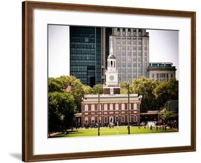 Independence Hall and Pennsylvania State House Buildings, Philadelphia, Pennsylvania, US-Philippe Hugonnard-Framed Photographic Print