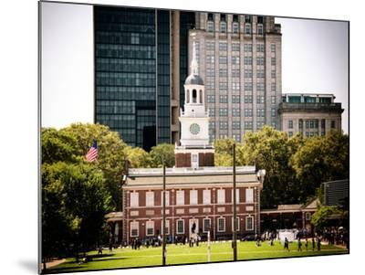 Independence Hall and Pennsylvania State House Buildings, Philadelphia, Pennsylvania, US-Philippe Hugonnard-Mounted Photographic Print