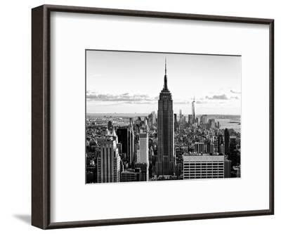 Downtown at Sunset, Empire State Building and One World Trade Center (1WTC), Manhattan, New York-Philippe Hugonnard-Framed Premium Photographic Print