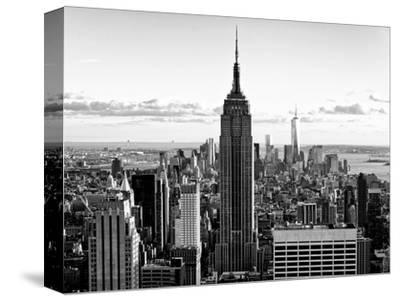 Downtown at Sunset, Empire State Building and One World Trade Center (1WTC), Manhattan, New York-Philippe Hugonnard-Stretched Canvas Print