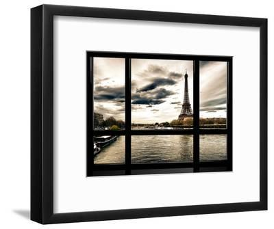 Window View, Special Series, the Eiffel Tower and Seine River Views, Paris, France, Europe-Philippe Hugonnard-Framed Photographic Print