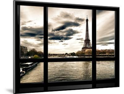 Window View, Special Series, the Eiffel Tower and Seine River Views, Paris, France, Europe-Philippe Hugonnard-Mounted Photographic Print