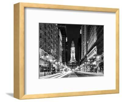 City Hall and Avenue of the Arts by Night, Philadelphia, Pennsylvania, US-Philippe Hugonnard-Framed Photographic Print