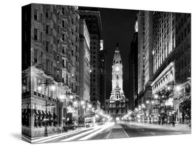 City Hall and Avenue of the Arts by Night, Philadelphia, Pennsylvania, US-Philippe Hugonnard-Stretched Canvas Print