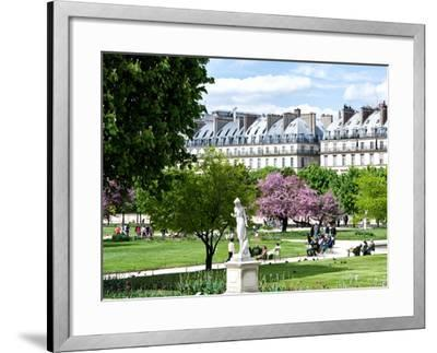 Garden of the Tuileries, the Louvre, Paris, France-Philippe Hugonnard-Framed Photographic Print