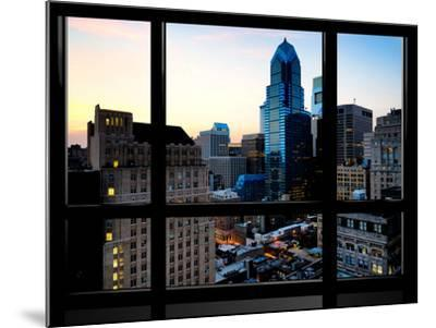 Window View, Special Series, Skyscrapers View at Nightfall, Philadelphia, Pennsylvania, USA-Philippe Hugonnard-Mounted Photographic Print