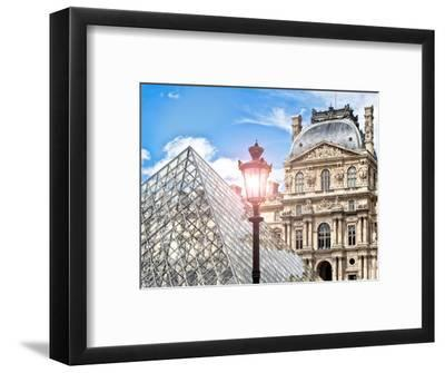 View of the Pyramid and the Louvre Museum Building, Paris, France, Europe-Philippe Hugonnard-Framed Photographic Print